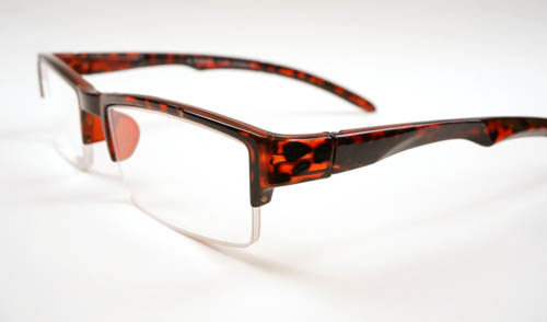 Rimless Glasses Distortion : New Rectangle Reading Glasses Semi Rimless Sophisticated ...